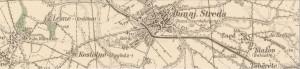 Location Location location. Map of Dunajská Streda, 1938, Slovakia, formerly Dunaszerdahely, Hungary. Copyright: http://www.staremapy.sk.