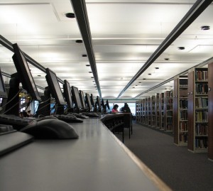 Photograph of research library. Research your own family history. Copyright Freeimges.com / Fred Kuipers