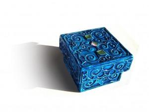 Photograph of an ornate blue box, Pandora's Box - Thursday Thoughts blogpost. Copyright freeimages.com/ Cecilia Picco.