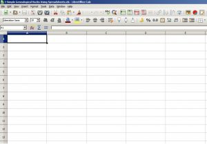 "Image of a spreadsheet accompanying ""3 Simple Genealogical Hacks Using Spreadsheets"", a blog post from historytrace."