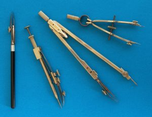 """Photograph of antique ink compasses, accompanying the historytracings blog post """"""""Heirloom or Inheritance - Thursday Thoughts"""" from historytrace. Image copyright: www.freeimages.com / Aldo Cavini Benedetti (aldoaldoz)."""