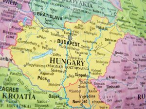 "Map of late 20th century Hungary. Accompanying the historytrace blog post ""Exploring Family Ancestors from Hungary"". Image copyright www.freeimages.com / Sándor Balázs."