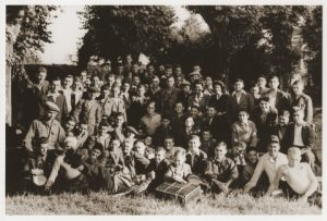 Holocaust Testimony -Thursday Thoughts. The Passing of Elie Wiesel. Photograph of Jewish DP youth at the OSE, Ambloy, France, including Elie Wiesel. Copyright USHMM